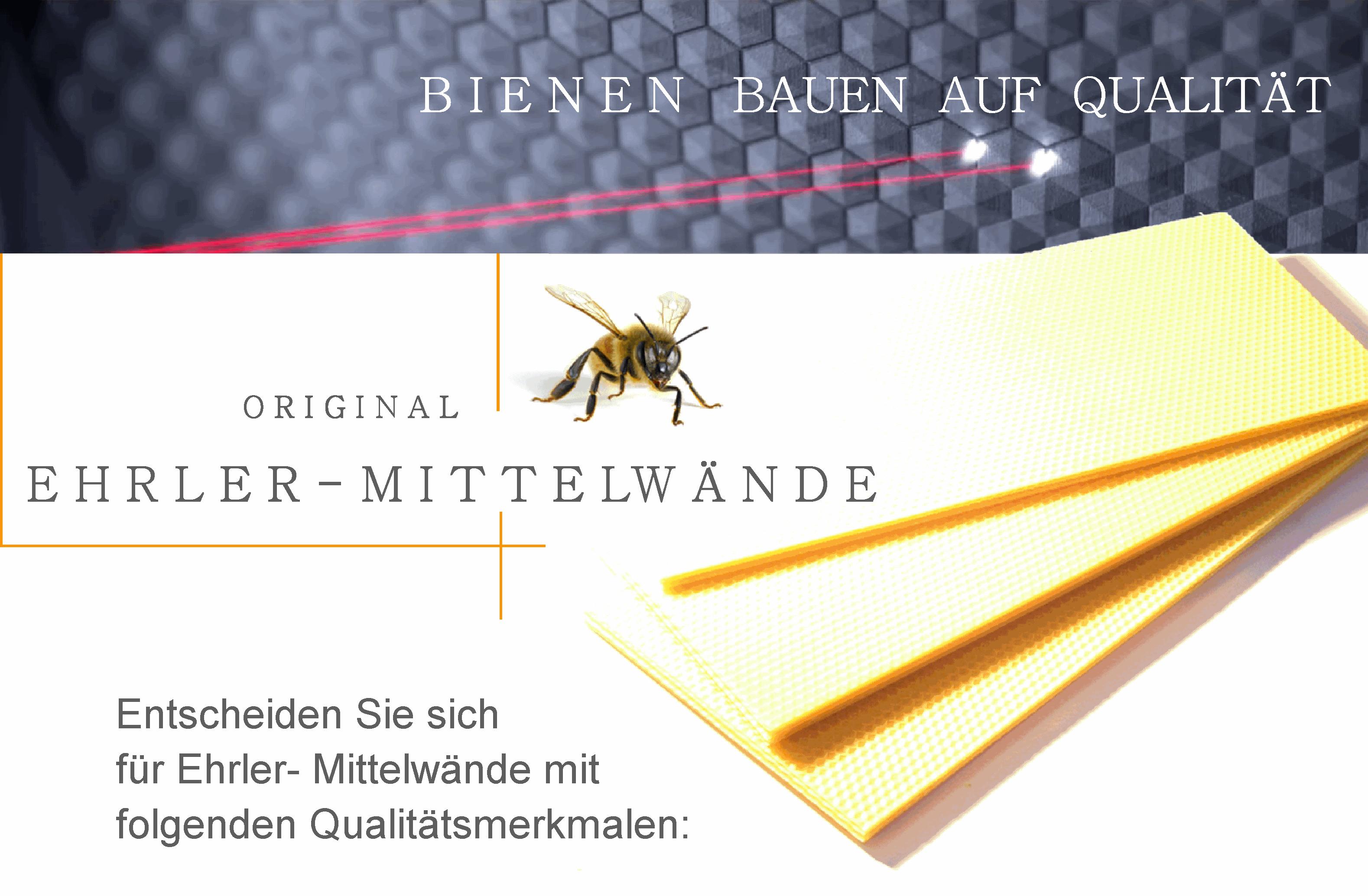 Bienen bauen auf Qualität
